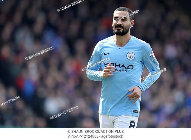 2019 Premier League Football Crystal Palace v Man City Apr 14th. 14th April 2019, Selhurst Park, London, England; EPL Premier League football