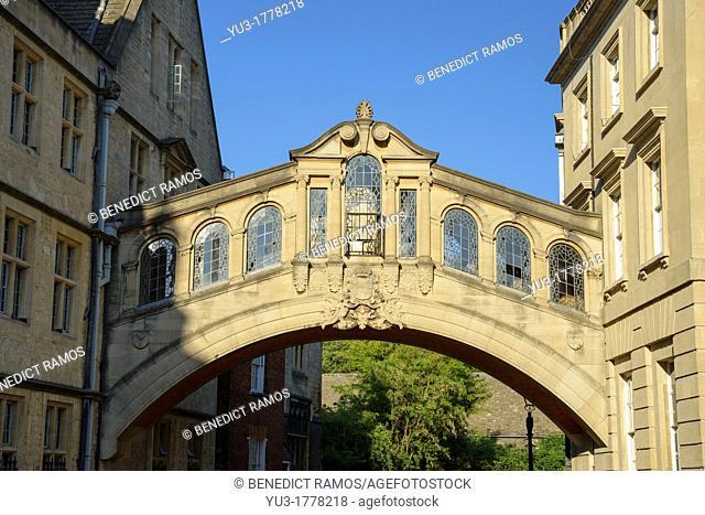 Bridge of Sighs, Hertford College, Oxford, England, UK
