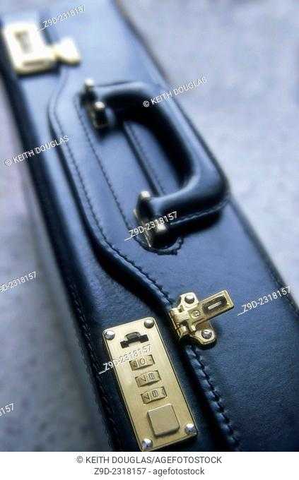 Business concept of briefcase unlocked