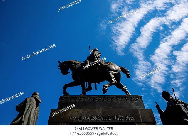 St. Wenceslaus rider equestrian statue, Wenzelsplatz, Prague