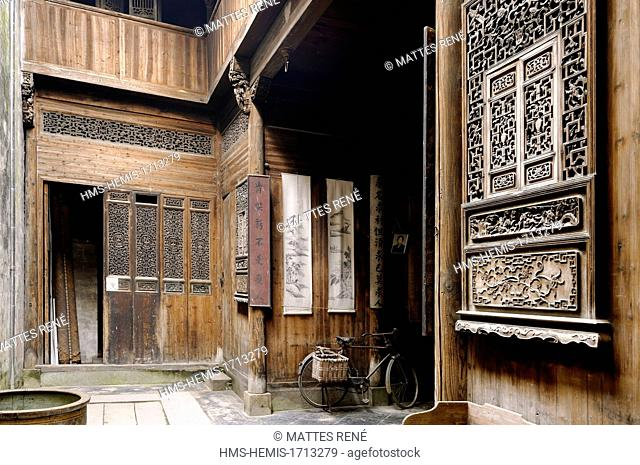 China, Anhui province, Lucun, old traditional house