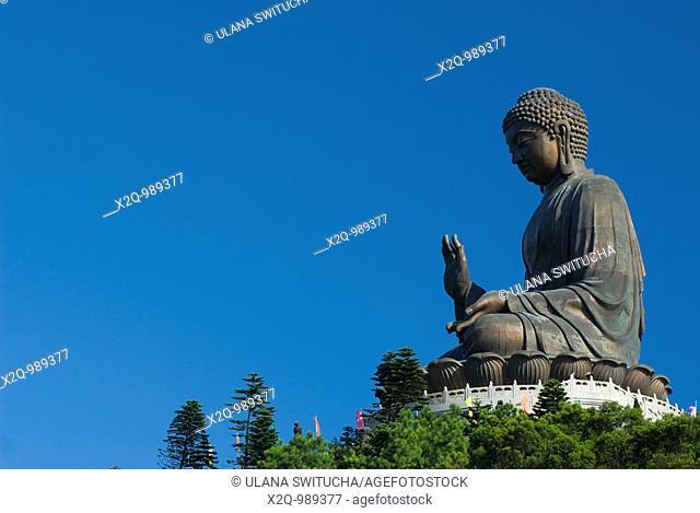 The big buddha at Po Lin Lantau Island Hong Kong
