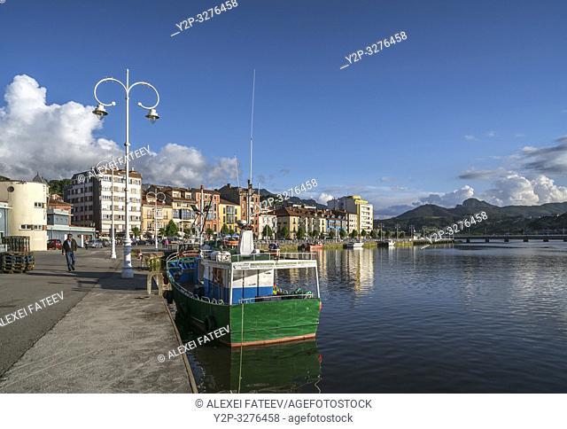 Small town Ribadesella, Asturias, Spain