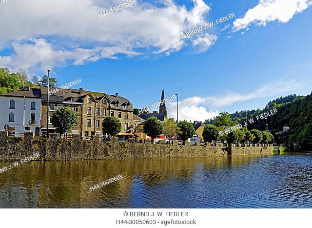 River, Ourthe, local view, La Smelling Roche-en-Ardenne Belgium