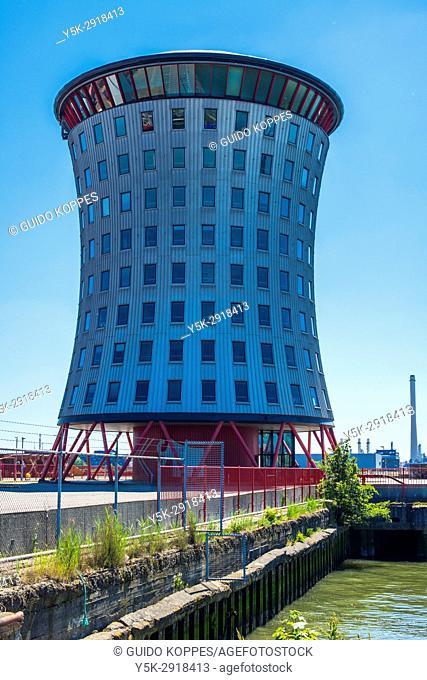 Schiedam, Netherlands. Corporate HQ of Mammoet Holding at Vijfsluizen Industrial Estate inside Port of Rotterdam