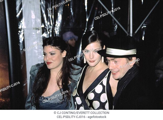 Mia Tyler, Liv Tyler, and Royston Langdon at the premiere of LORD OF THE RINGS: THE TWO TOWERS, 12/5/2002, NYC, by CJ Contino
