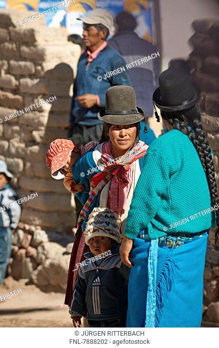 Headline: Quechua inhabitants of San Antonio de Lipez, Bolivia