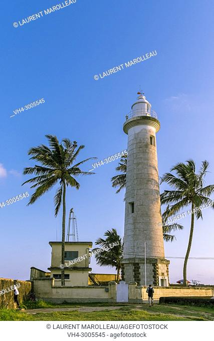 Lighthouse of Galle Fort, Old Town of Galle and its Fortifications, Southern Province, Sri Lanka, Asia