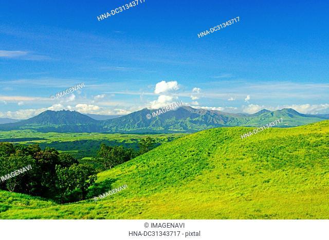 Aso Five mountain range, Kumamoto Prefecture, Japan