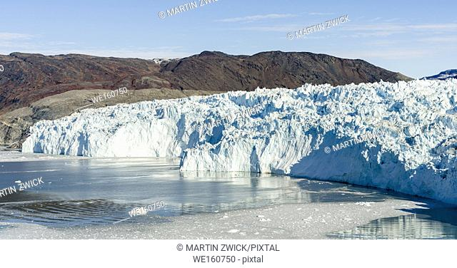The glacier Eqip (Eqip Sermia) in western Greenland. America, North America, Greenland, Denmark
