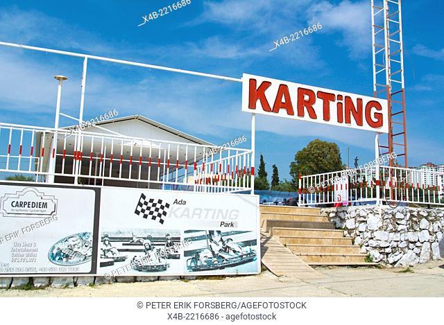 Karting circuit near Long Beach, Kusadasi, Turkey, Asia Minor