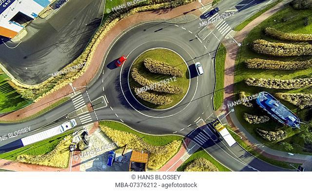 Hafenstraße Roundabout, Hamm harbour area, Hamm, Ruhr Area, North Rhine-Westphalia, Germany