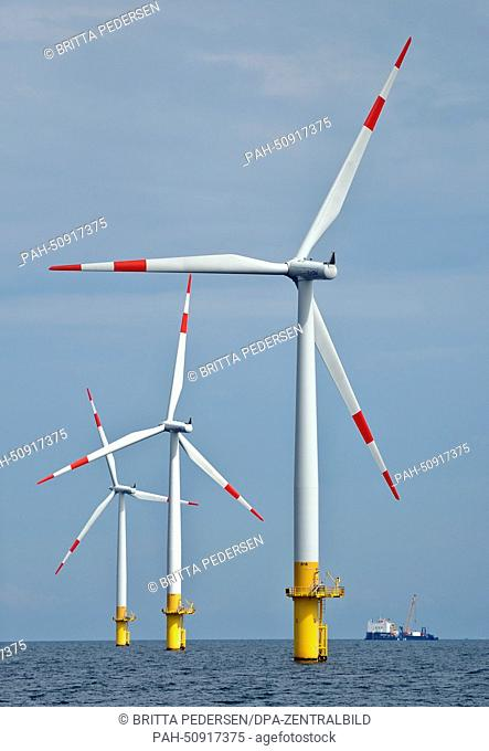 Baltic 1 Offshore Wind Farm off the coast of Mecklenburg-Western Pomerania, Germany, 05August 2014. Photo:BRITTAPEDERSEN/dpa | usage worldwide