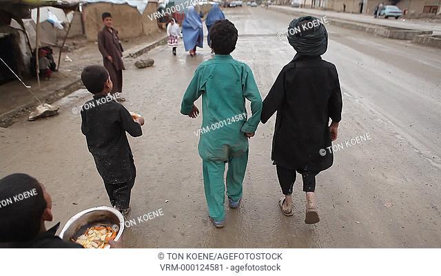 slum area in kabul, Afghanistan