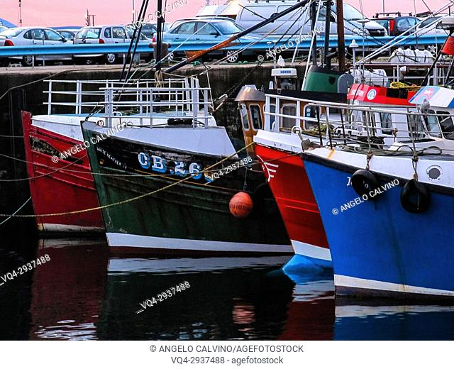 Fishing boats at the harbour, United Kingdom, Scotland, Mallaig