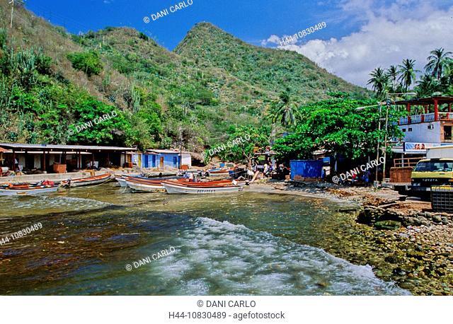 Venezuela, South America, Puerto Colombia, Parque Nacional, Henri Pittier, Cordillera De La Costa, South America, Bay