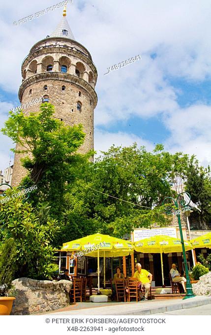 Galata tower, Beyoglu district, central Istanbul, Turkey, Europe
