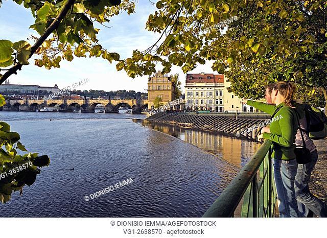 Prague, Charles Bridge, Karluv Most on the Vltava River, Czech Republic, Europe
