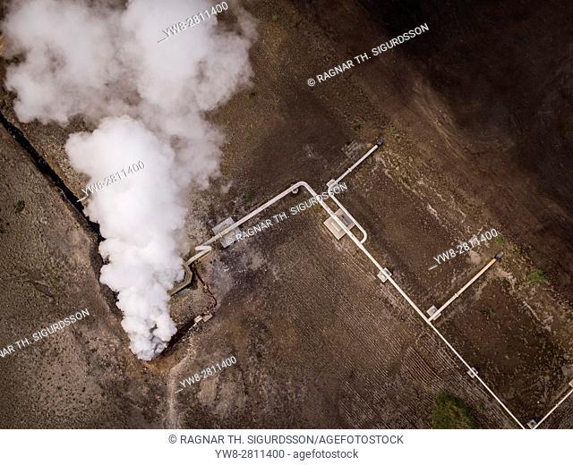 Borehole, Bjarnarflag Geothermal Plant, Iceland