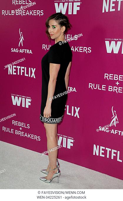 Netflix FYESEE Rebels and Rule Breakers event Featuring: Alison Brie Where: Los Angeles, California, United States When: 12 May 2018 Credit: FayesVision/WENN