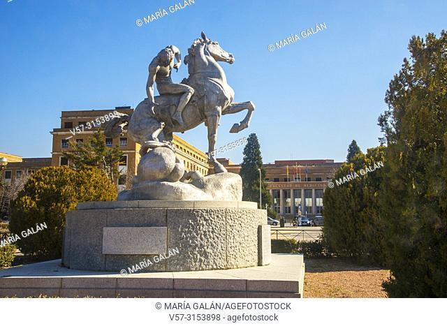 Los portadores de la antorcha, sculpture by Anna Hyatt Huntington. Ciudad Universitaria, Madrid, Spain