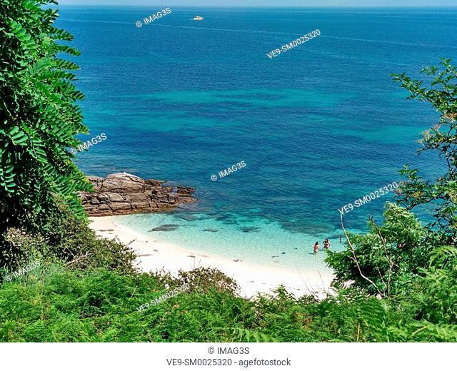 Ons island, Islas Atlánticas National Park, Pontevedra province, Galicia, Spain