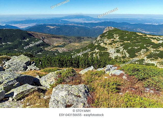 Amazing landscape of Rila Mountain near The Scary lake, Bulgaria