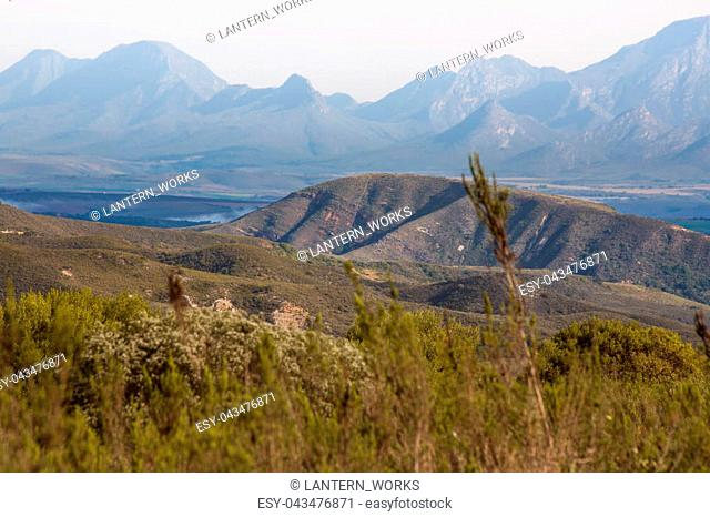 Hills and mountains near Mossel Bay