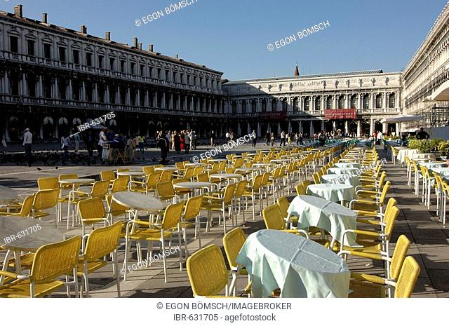 St. Mark's Square or Piazza San Marco in Venice, Veneto, Italy, Europe