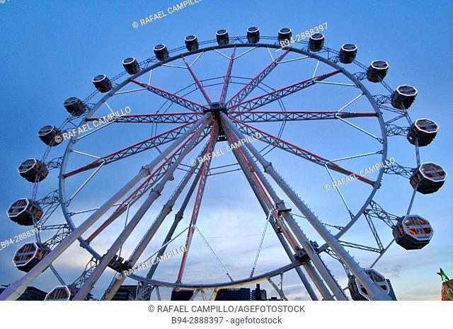 Ferris wheel, April Fair, Barcelona. Catalonia, Spain