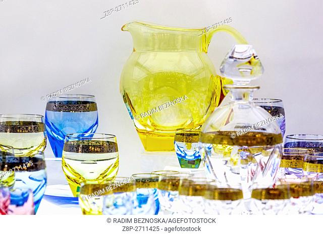 Current products Moser glassworks, Karlovy Vary, West Bohemia, Czech Republic