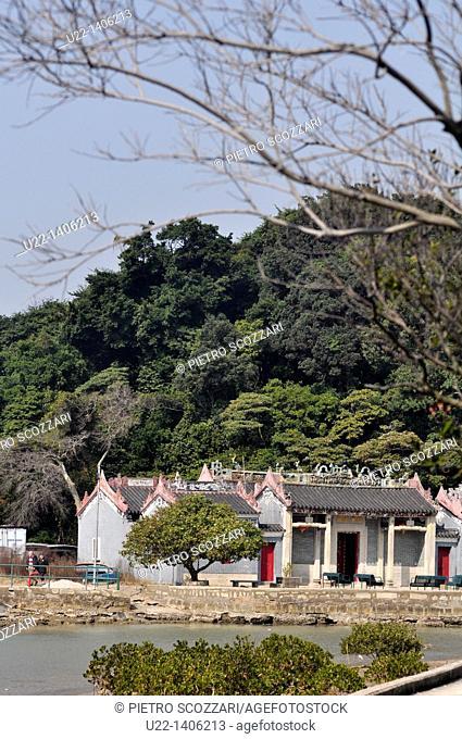 Hong Kong: temple at Tai O village, on Lantau Island