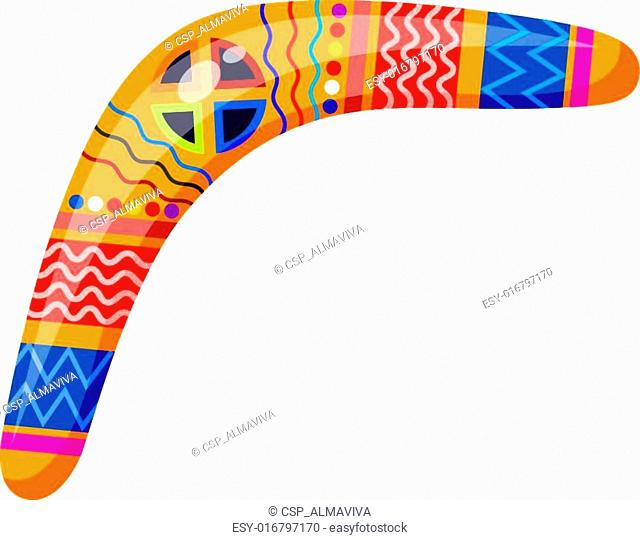 Boomerang isolated on white background. Tribal style. Vector ill