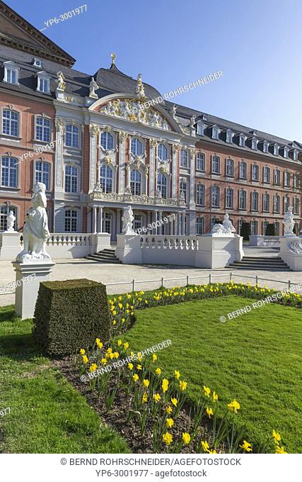 palace of Trier with park, Trier, Rhineland-Palatinate, Germany