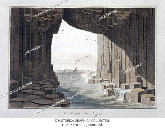In Fingal's Cave, Staffa, Scotland, 1829. The best known of the caves on the southwest coast of Staffa, Scottish Inner Hebrides