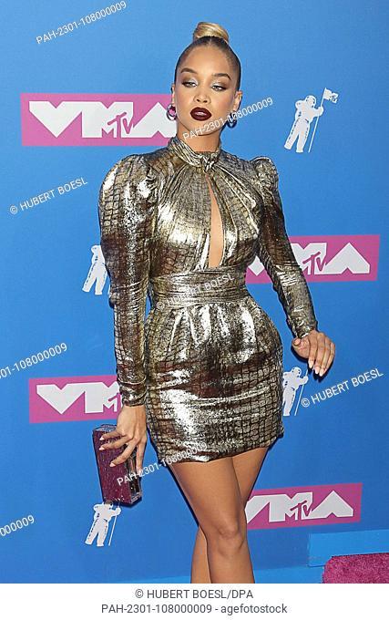 Jasmine Sanders attends the 2018 MTV Video Music Awards, VMAs, at Radio City Music Hall in New York City, USA, on 20 August 2018. | usage worldwide
