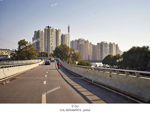 City skyline and highway, Changsha, Hunan, China