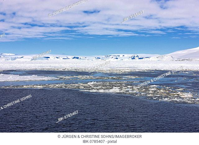 Icy landscape, pack ice, Weddell Sea, Antarctica
