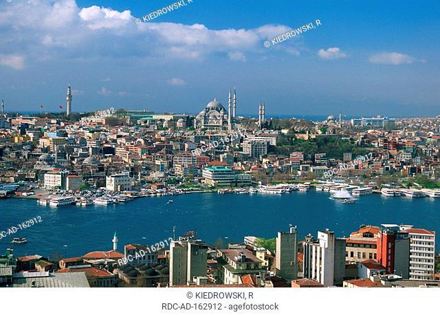 Golden Horn Suleymaniye mosque Istanbul Turkey Süleymaniye mosque