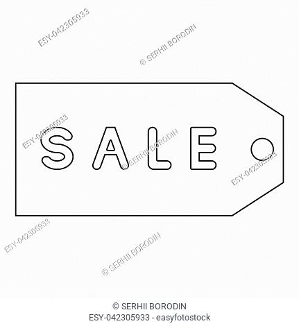 Label sale the black color icon vector illustration