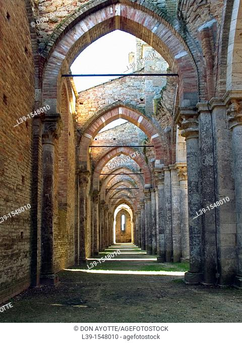 is a cathedral built by the monks in 1250 in Montieri, Italy