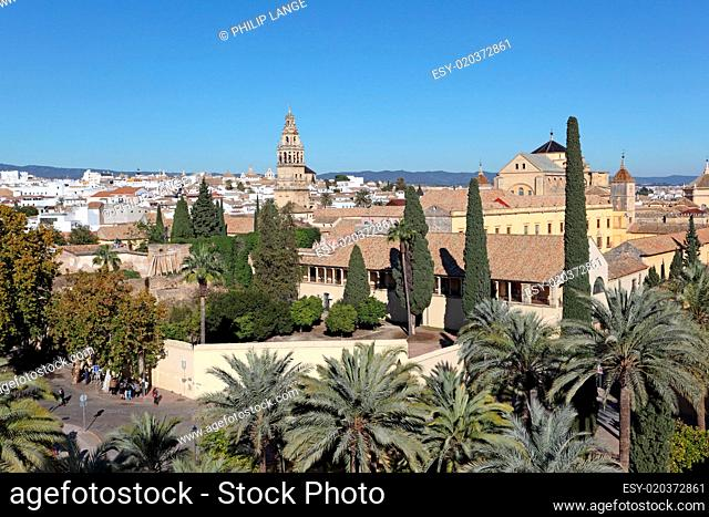 View over the old town of Cordoba, Andalusia Spain