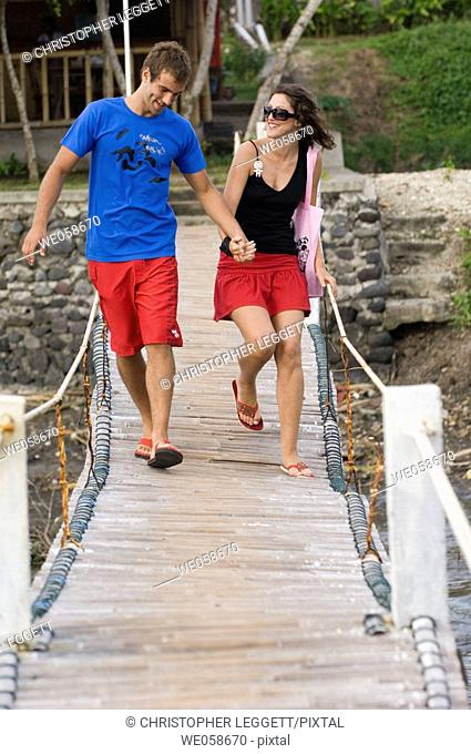 Young couple on holiday
