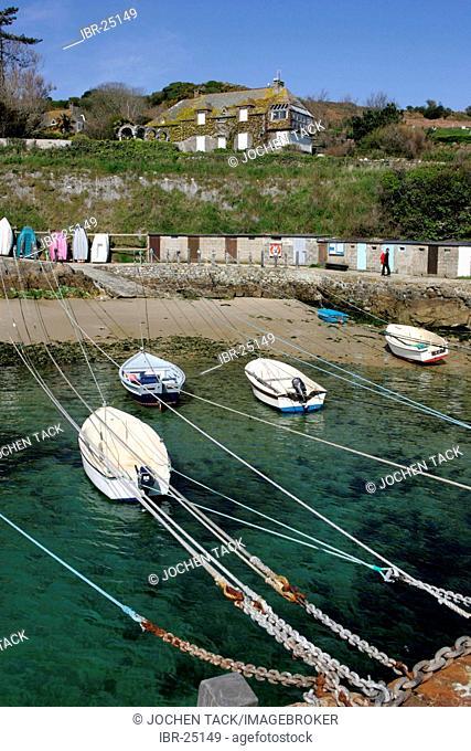 FRA, France, Normandy: Port Racine on the La Hague Peninsula, smallest port in France