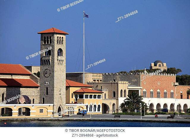 Greece, Dodecanese, Rhodes, Evangelismos Church, Southern Aegean Government Offices,