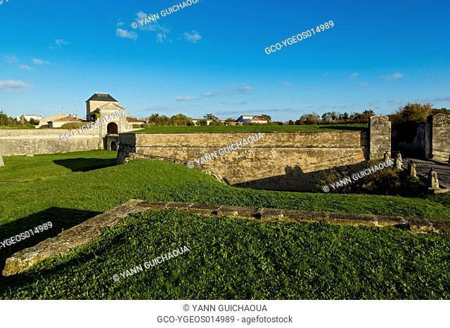 The Vauban Forteress, Gate Of Campani,Saint Martin De Re,Ile De Re, Poitou Charente, Charente Maritime, France