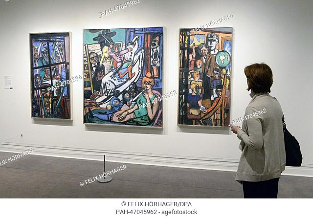 "The work """"Beginning"""" 1949 by Max Beckmann is on display in the Metropolitan Museum of Art in New York City, USA, 08 March 2014"