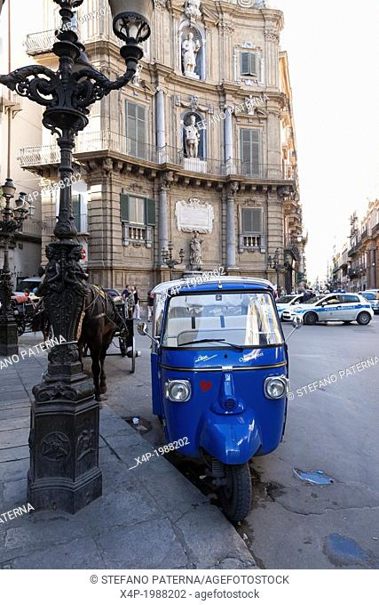 Sightseeing Tour with Three Wheel Ape, Palermo, Sicily, Italy