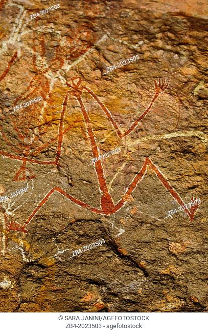 Aboriginal Rock Art, Kakadu National Park, Northern Territory, Australia, Oceania