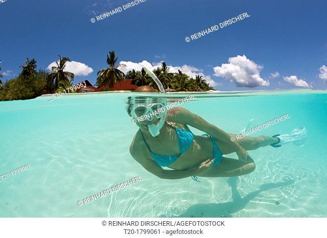 Snorkeling at Kurumba Island, North Male Atoll, Indian Ocean, Maldives
